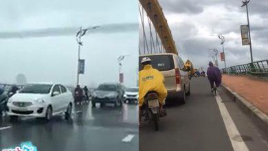 Photo of Đã Nẵng: Ấm lòng đoàn xe ô tô chủ động chạy chậm, chắn gió lớn cho xe máy đi qua cầu Rồng dù không ai bảo ai