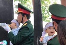 Photo of Đám tang liệt sĩ sư đoàn 337 hy sinh: Nụ cười ngây thơ của bé trai trong lễ truy điệu cha khiến nhiều người đau lòng