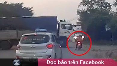 """Photo of CLIP: Cố vượt xe tải đang quay đầu, người phụ nữ gặp biến sợ """"toát mồ hôi hột"""""""