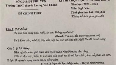 Photo of Câu nói của ông Donald Trump được đưa vào đề thi học sinh giỏi lớp 10