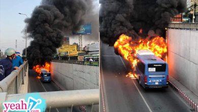 Photo of TP.HCM: Xe buýt bốc cháy ngùn ngụt, bị thiêu rụi hoàn toàn trong hầm chui An Sương