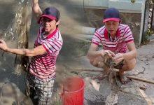 """Photo of Nghệ sĩ Hoài Linh bì bõm lội xuống bùn để """"kiếm cơm"""", xem xong càng thấy thương những người dân làm nghề """"bà cậu"""""""