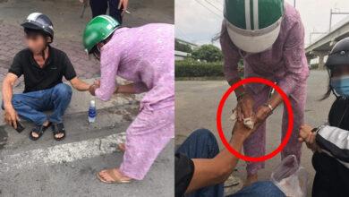 Photo of Sau vụ va chạm giao thông, một người phụ nữ chạy đến giúp đỡ, nghe lời dặn dò sau đó ai cũng ấm lòng