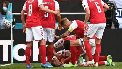 Photo of Euro 2020: Tiền vệ Đan Mạch Christian Eriksen đột quỵ trên sân trong trận đấu với Phần Lan, vợ bật khóc nức nở