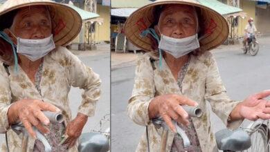 Photo of Xót xa cụ bà nhận được cứu trợ giữa mùa dịch nghẹn ngào tiết lộ: 'Nãy xin 3kg gạo mà họ làm bà mắc cỡ quá'
