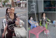 """Photo of Bị CSGT nhắc đeo khẩu trang, người phụ nữ chở theo con nhỏ trả treo: """"Đeo ngộp lắm! Có virus đâu?"""""""