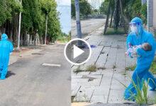 Photo of Xúc động nữ bác sĩ quân y ôm cháu bé chạy bộ đi cấp cứu