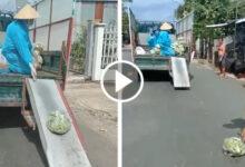 Photo of Clip xe tải vừa chạy vừa thả đồ từ thiện xuống đường cho bà con nhặt gây tranh cãi